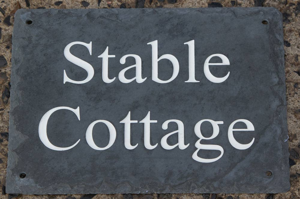 Rustic Slate House Signs