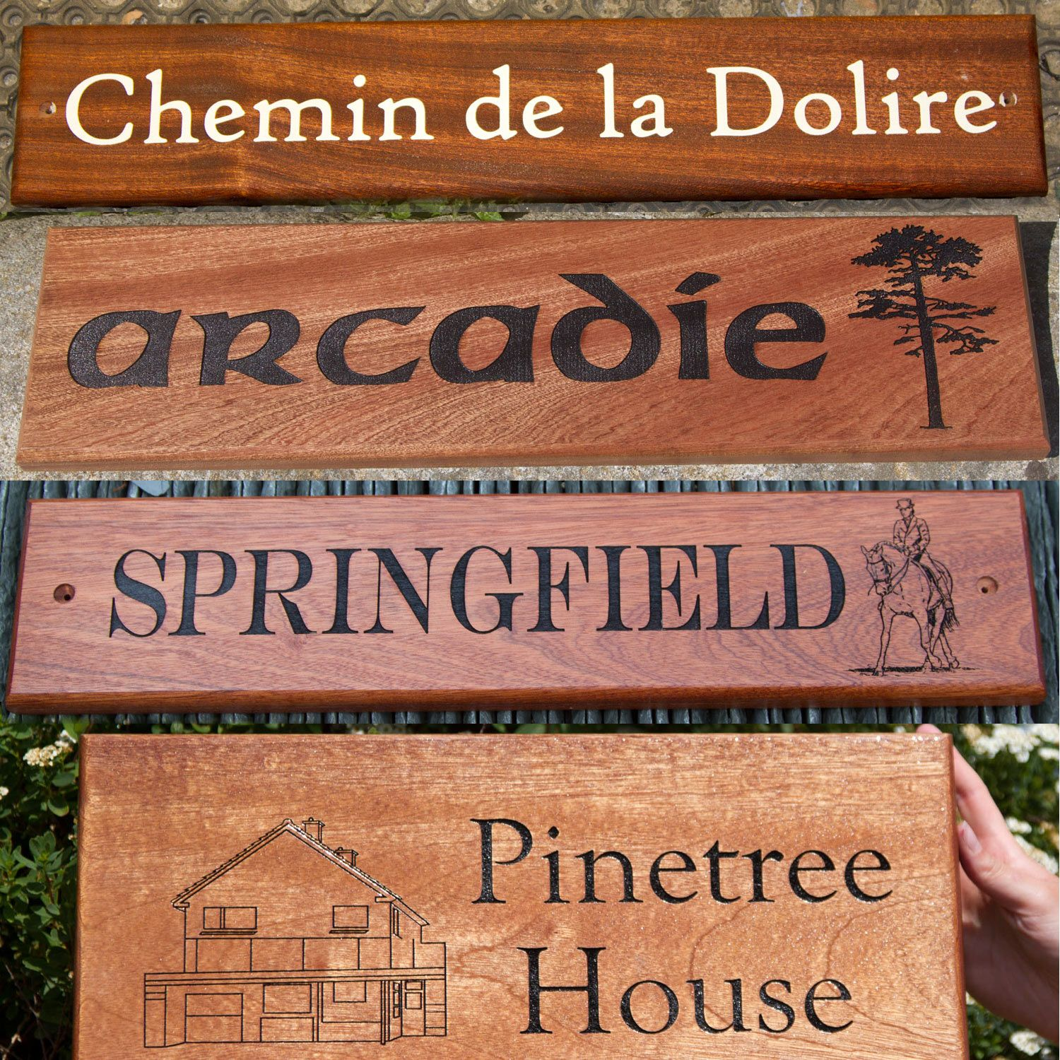 Sapele House Signs - Standard Sizes
