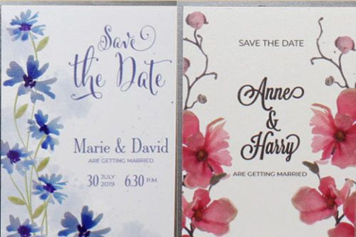 Save the Date Fridge Magnets - Standard Designs