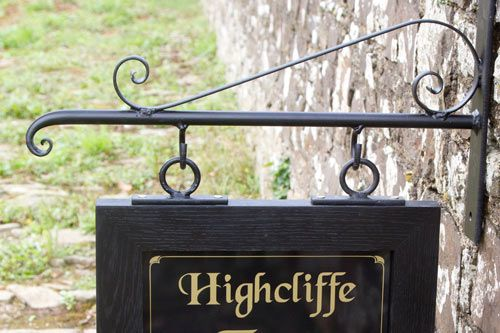 Online Sign Maker Wrought Iron Brackets For Wooden Signs