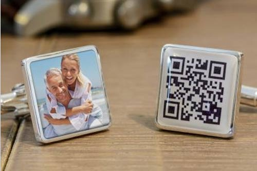 Secret Message Cufflinks with Photo