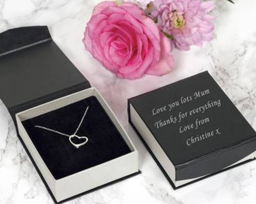 Silver  Necklace in Personalised Box