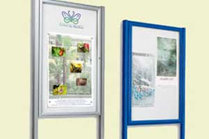 Single Door  Notice Board  - 30mm Profile