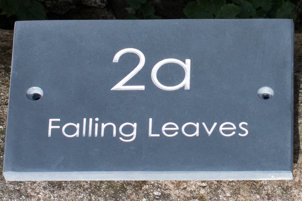 Slate House Name Signs 150 & 225mm High