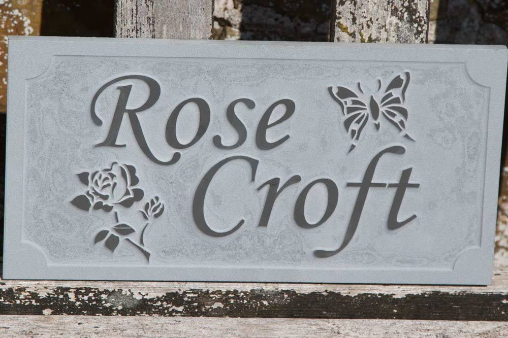 Slate Sign -  Raised Letters -  20mm Slate