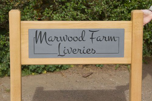 Solid Oak Entrance Signs with Engraved Insert