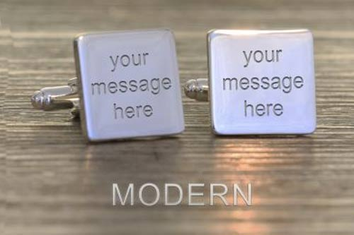 Square Any Message Cufflinks