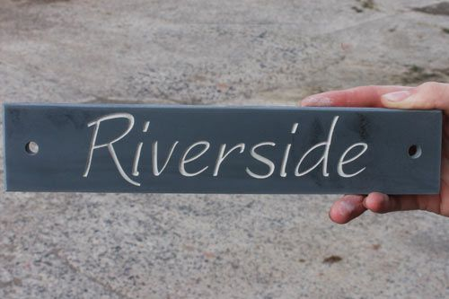 "Online Sign Maker | Standard Slate House Signs 2"" High"