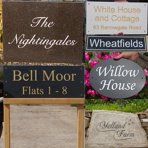 Stone &  Granite  House Signs
