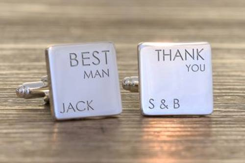 Thank You Wedding Cufflinks