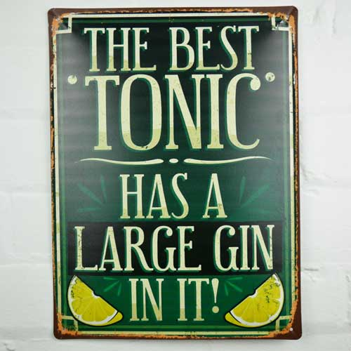 The Best Gin Sign
