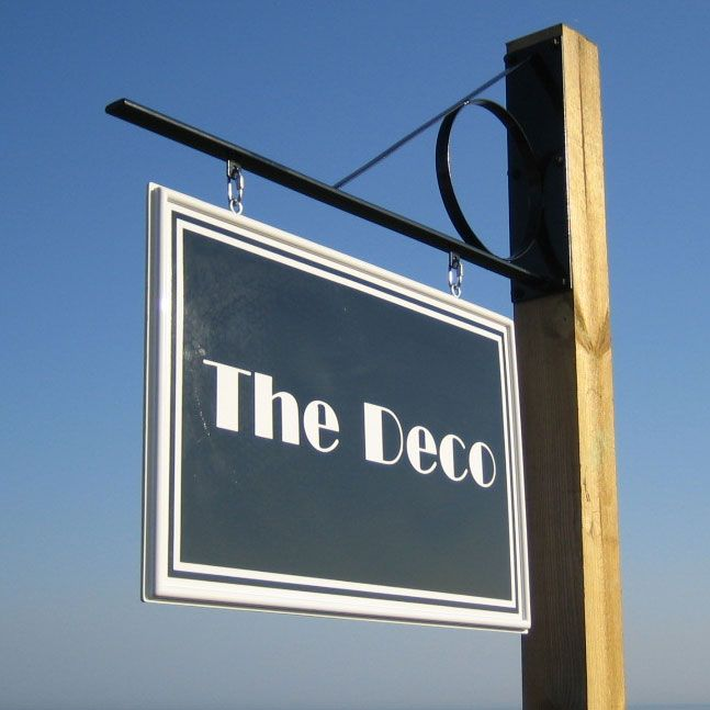 The Deco Swinging Hanging Business Sign