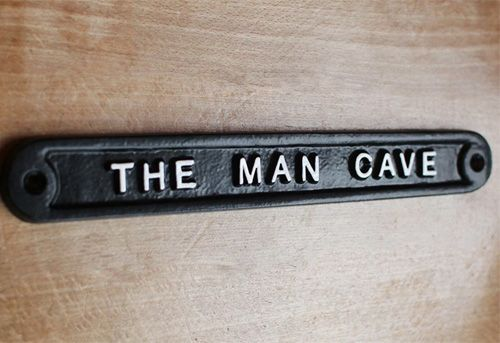 THE MAN CAVE SIGN - BLACK