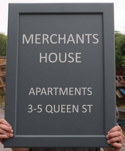 Traditional Framed Signs with Painted Lettering
