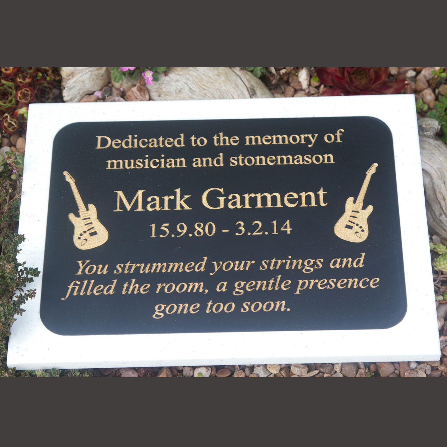 Two Tone Engraved Corian Plaque - Small Sizes