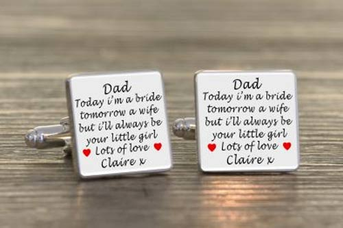 Wedding Cufflinks  Dad