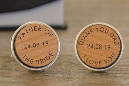 Wooden Cufflinks - Father of