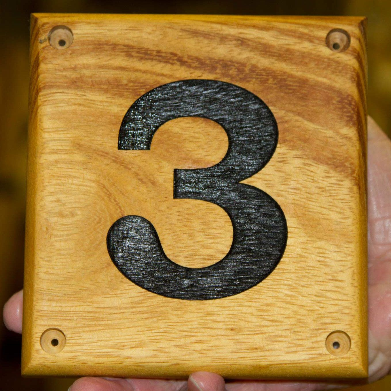 Wooden House Number Signs