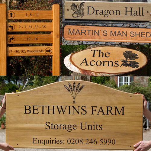 Wooden House Signs and Timber Signage