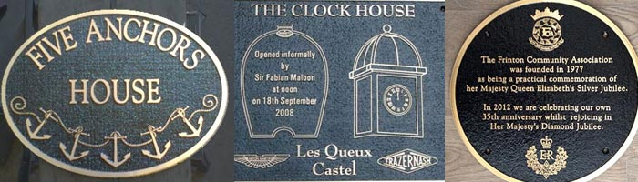 Cast Bronze House Sign