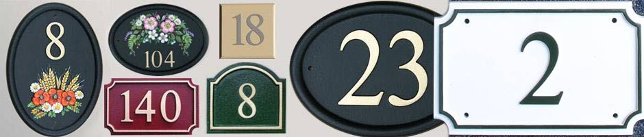 Hand Paint Cast House Number and House Number Signs