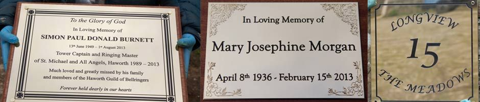 Engraved Brass Plaques and Name Plates