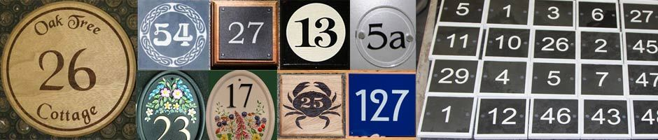 House Number Signs and House Numbers