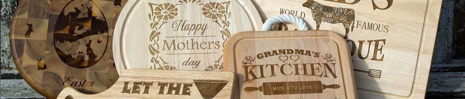Personalised chopping boards and cutting boards