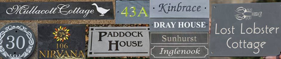 Slate house signs and large slate signage