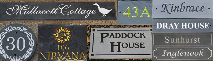 Slate House Signs and Name Plates