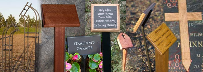 Tree Stakes, Wooden Crosses and Plaque Holders